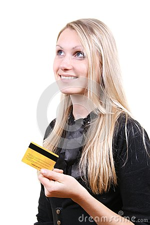 woman thinking about shopping