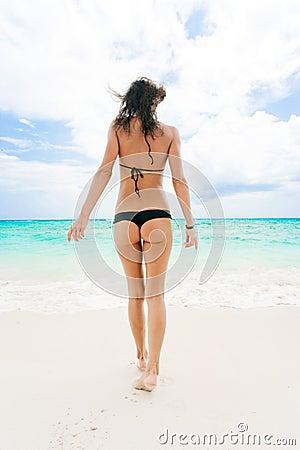 woman thong bikini beach