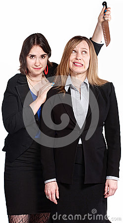 Woman Threatening Coworker Royalty Free Stock Photos - Image: 25629468