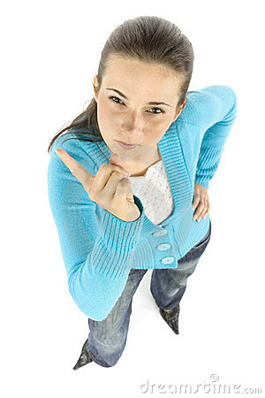 Free Woman Threatens By Finger Stock Images - 1172924