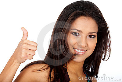 Woman - thumbs up