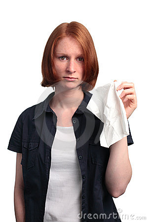 Woman with a Tissue