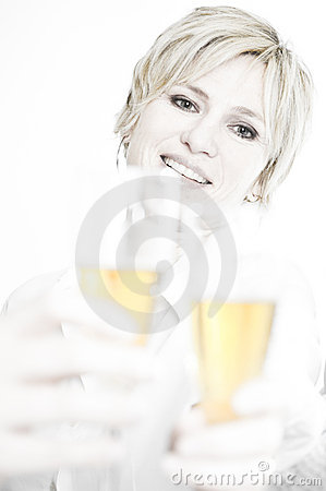 Woman toasting