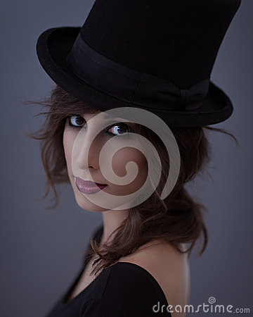 Woman With a Top Hat