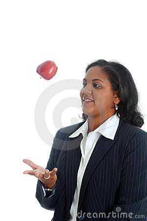 Free Woman Tossing Apple Royalty Free Stock Photography - 6896097