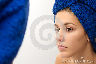 Woman with a towel