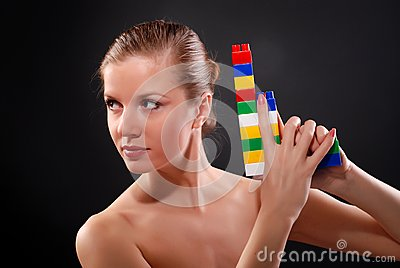 Woman with toy gun