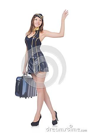 Woman travel attendant
