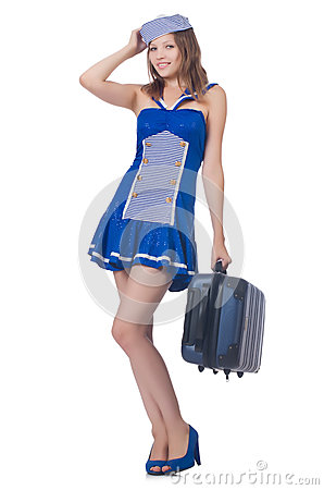 Woman travel attendant