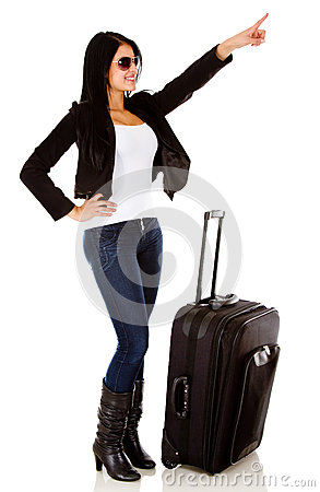 Woman traveling