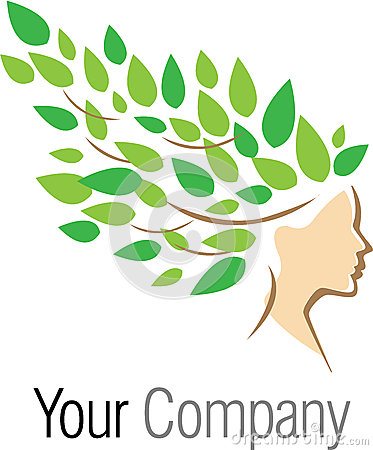 Woman tree logotype