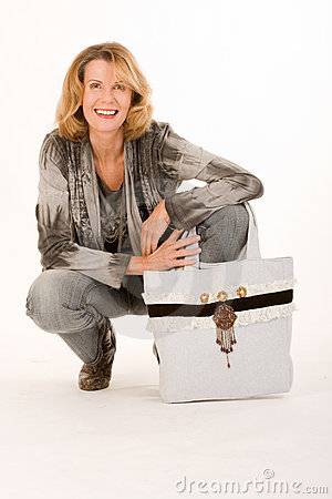 Woman with trendy bags