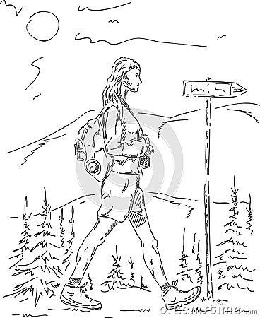 Woman on a trip