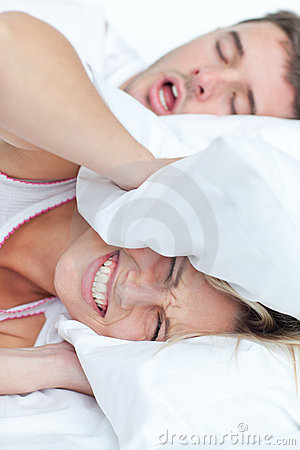 Free Woman Trying To Sleep Royalty Free Stock Photo - 16347735