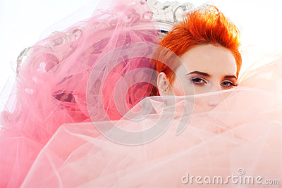 Woman in tulle