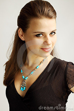 Woman in  turquoise