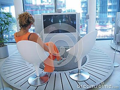 Woman TV Watching
