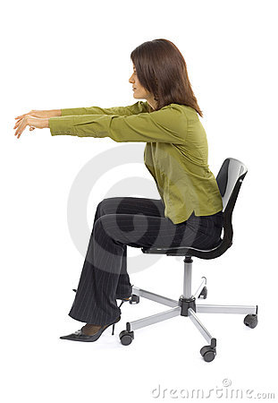 Woman typeing