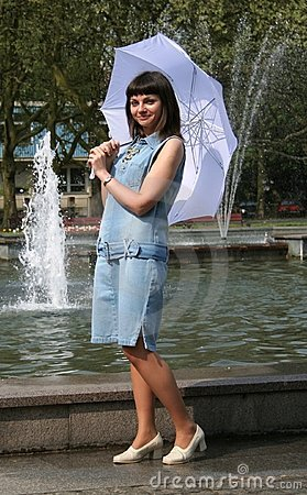 Woman with umbrella #2