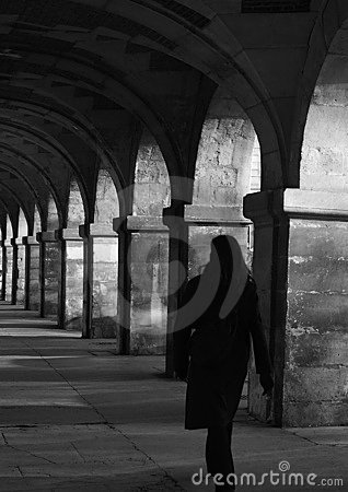 Woman under the arches