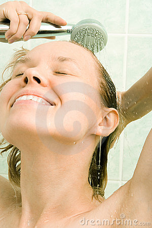 Free Woman Under Shower Royalty Free Stock Image - 3044666
