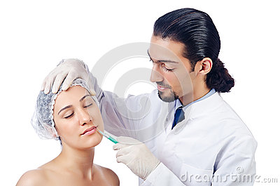 Woman under the surgery