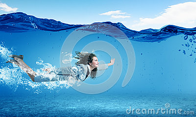 Woman Underwater Stock Photo Image 44559127