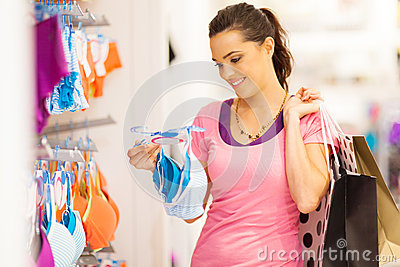 Woman underwear shopping