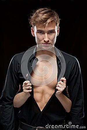 Woman undressing man