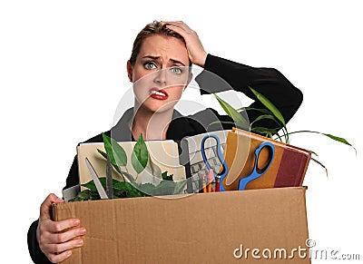 Woman Upset After Loosing Job