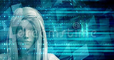 Woman using digital solutions technology concept art stock footage