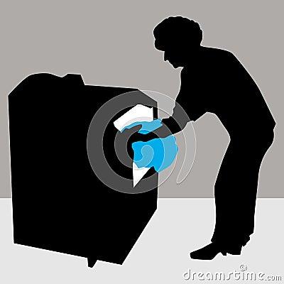 Woman Using Dryer Machine