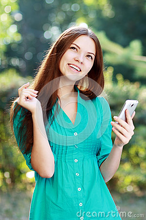 Woman using mobile