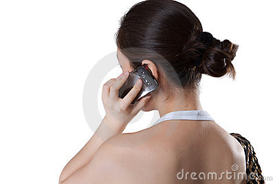 Woman using mobile in casual