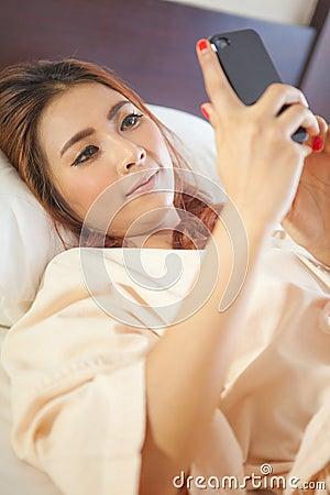 Woman using smart phone