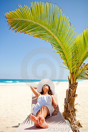 Woman in vacations