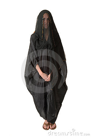 Woman in veil abaya/burka