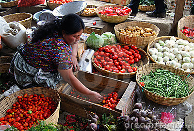 Woman vendor in Antigua Guatemala Editorial Photography