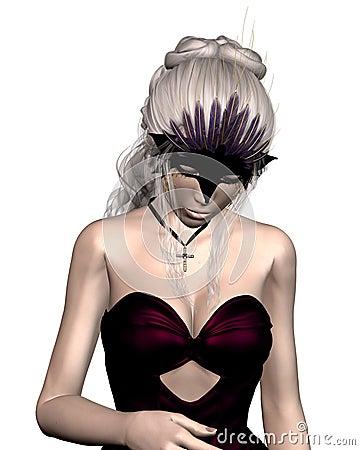 Woman in Venetian Carnival Mask - 2
