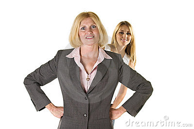 Woman With Very Small Business Team 3