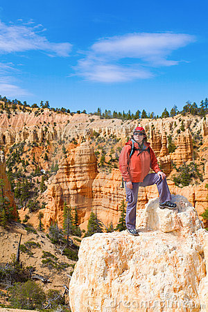 Woman viewing Bryce Canyon