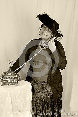 Woman vintage  portrait