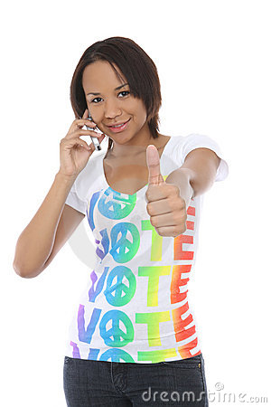 Woman in Vote Shirt