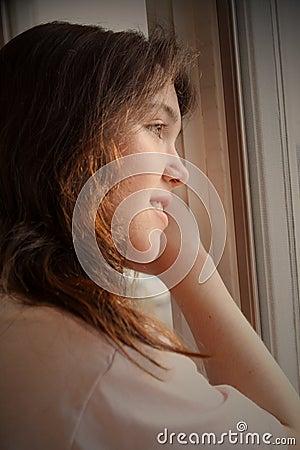 woman waiting depression
