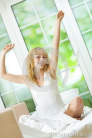 Free Woman Waking Up Stock Photos - 7577043