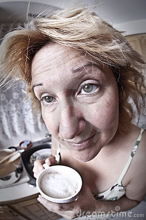 Free Woman Waking Up With A Coffee Stock Photo - 20104920
