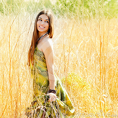 woman walking outdoors golden field 24319702 Is Being Nice a difficult Job for a male to Be Good to a Russian Girl?