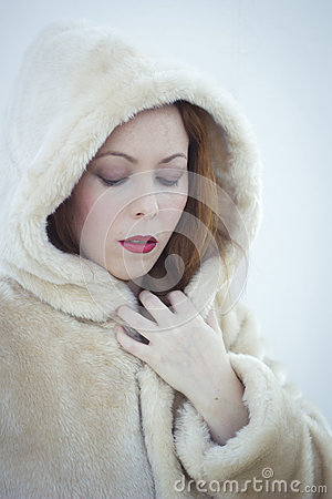 Woman in a warm coat