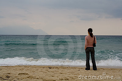 Woman watching sea