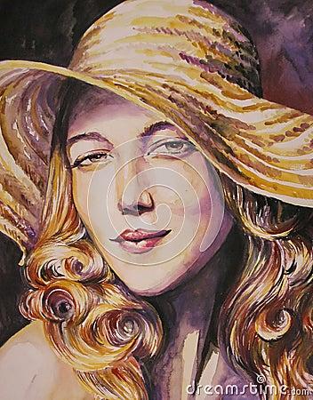 Woman-watercolor